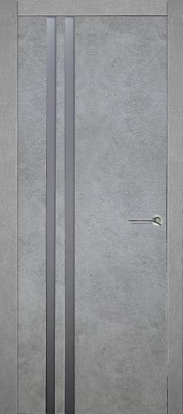 ДО QM7 Бетон серый зеркало графит