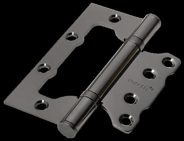 Петля дверная Rucetti без врезки RFH-100*75*2,5 BN Цвет - Черный никель