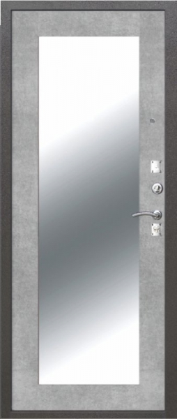 ДМ Dominanta серебро Зеркало Бетон Серый